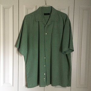 Green and Red Bugatchi Shirt | Size XXL